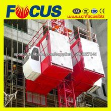 Estante de engranaje tipo construcción hoist|construction elevator|construction lifter|material hoist|material ascensor
