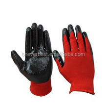 nitrile coated 13G nylon shell work gloves