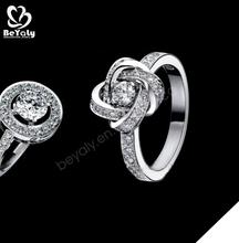 puro amore temi argento chiaro da sposa zirconi anelli
