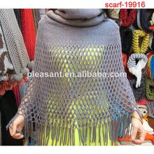 2014 de punto para damas de invierno bufanda de decoraciones