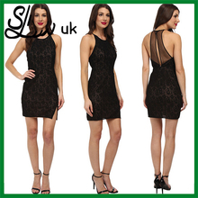 Fashion knit black sexy party dress for women