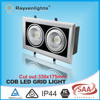 15W*2 AR111 double head dimmable COB square led grid light with Taiwan Chip EPISTAR
