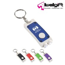 ABS Plastic 2 Led Lights Mini Torch Keychain