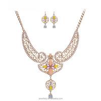 Latest Popular Chains folk art Bridal gold jewelry sets rani haar