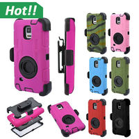 For Galaxy Note 4 Case Heavy Duty Rugged Hard Case,Armor Military Style Cover+Belt Clip Holder Shockproof Case