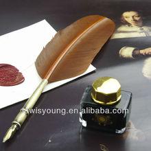 Quill Pen & Ink Set, Classical Turkey Feathe Pen Set