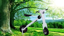 Folded E-Bike, adults electric scooter motorbike, black and white colour folding electric scooter