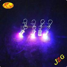 China custom keychain maker supply mini led flashlight keychain cheap promotional glow in the dark keychain