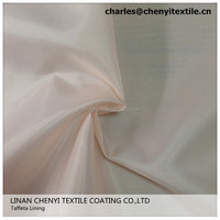 polyester 190T dyed bag lining taffeta fabric
