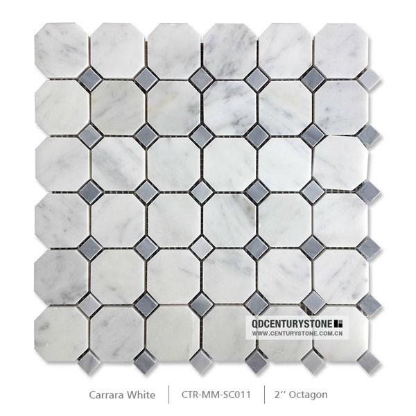 Octagon Tile Mosaic Blue Dots Flooring Tile Flooring Octagon Tile