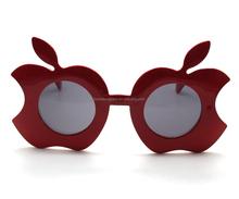 wholesale promotional apple shape carnival festival joke plastic novelty party Sunglasses