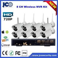 8CH p2p hd security camera system wireless wifi nvr kit wireless cctv kit