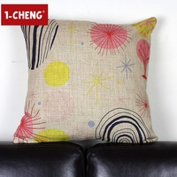 Handed Painting Design Printed Cotton Cushion Cover Body Pillow Chair Seat Cushion Garden Decorative Pillow Case