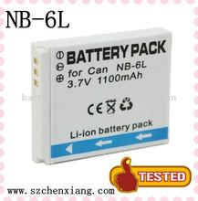 2012 Best selling Digital Camera Battery for Canon NB-6L NB6L PowerShot SD