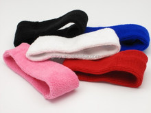 cotton terry sport headbands sweatband