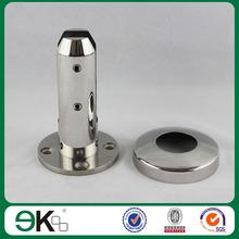 frameless glass railing/spigot cover plate/no holes round base plate spigot