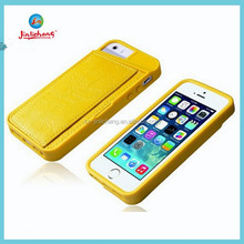 2014 hot sell wallet Leather Credit Card Slot Case for iphone 6 plus