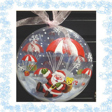 Beautiful 4d hands paiting wholesale shatterproof clear plastc christmas ball ornaments