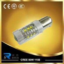 High Power 80W CREEs LED Reverse Backup Light White 1156 7506 P21W BA15S Bulb
