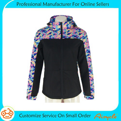 New style womens camo softshell jacket waterproof windproof jacket