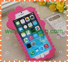 New design cute rabbit soft silicon back cover case for iphone6