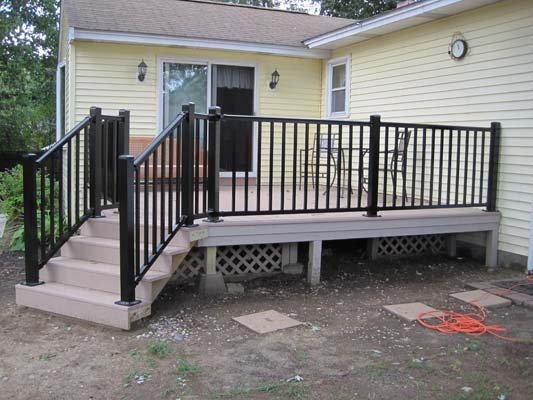 hot sale aluminum deck stair railing buy curved aluminum deck