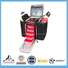 New Design And Innovator Black/Red Fitness Meal Bag Management Bag