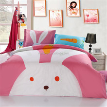100% Cotton 3D Printed Cartoon Animal Soft Kids Bedding Set