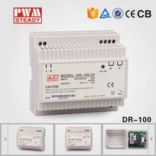DR-100 plastic box din rail dimming led power supply 12v with CE approved