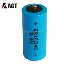 Li-Socl2 lithium 0.4Ah 2/3AAA 3.6v battery er10280