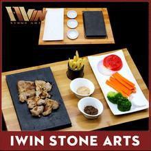 Otel ve restoran taş tencere, sıcak pişirme biftek taş, biftek taş ve tabak seti