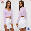 China wholesale clothing women sweater in Purple