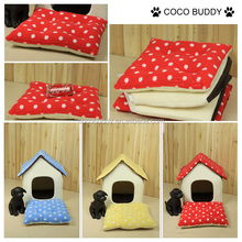 Cute house for dog / pet house for small dogs with blue yellow red color best selling
