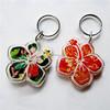 Good quality mini luxury acrylic key chain with iron hoop