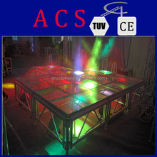 indoor and outdoor acrylic glass fiber glass stage for sale