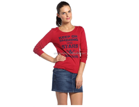 100% combed cotton women printing long sleeved t-shirt wholesale