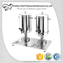 Double Head 12L Capcity Stainless Steel Coffee Dispenser Sliver Milk Dispenser Cold And Hot Bottle Water Dispenser Buffer Used