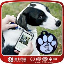 epoxy waterproof nfc pet id collar tag