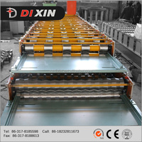 Dixin 840/850 wall and roof tile panel chrome roll forming machine,color roof tile making machine with best quality