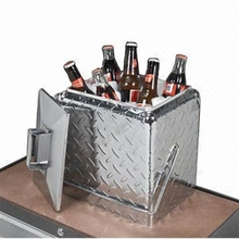 13L 17Lmetal cooler box aluminium cooler box diamond plate cooler box