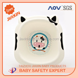 small size wash tub cute cow plastic baby wash basin / baby take a shower basin manufacturer baby product