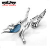 BJ-RM-041 Chrome Fire Flame Rear View Side 8mm 10mm Motorcycle Mirrors For Suzuki sportster