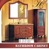 HS-G653 classic 1000mm height mirror with side cabinet bathroom vanity set