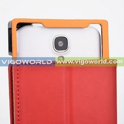 Leather cover case for Vatop cell phones for 5 inch cell phone with CAMERA FRAME alibaba china wholesale