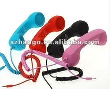 2012 new arrvial retro mobile phone handset for all smart phone with 3.5MM jack