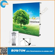 Aluminum velcro fabric trade show pop up display booth