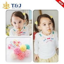 Kids Accessories gauze Ball girls Elastic Hair Band, Hair Band Korea Style