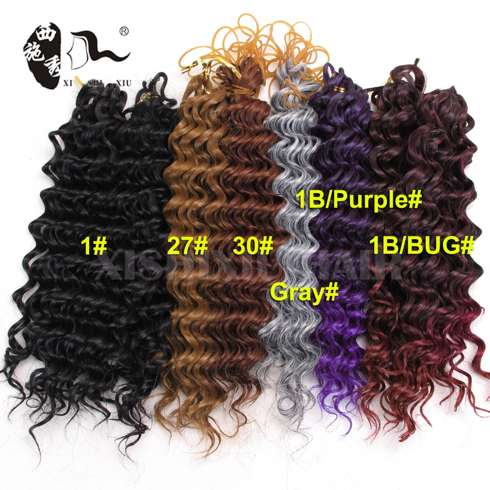 2017 New Arrivals Deep Wave Synthetic Hair Extension 2pcs Per Pack