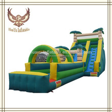 tropical inflatable slide bouncy,inflatable slip and slide,giant slide for sale
