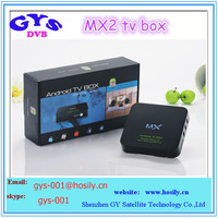 Hot selling Android 4.2 TV BOX GBOX Midnight MX2 XBMC TV BOX Dual Core MX Android KODI 14.2 fully loaded Smart TV BOX